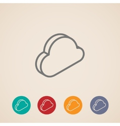 Cloud isometric icons vector