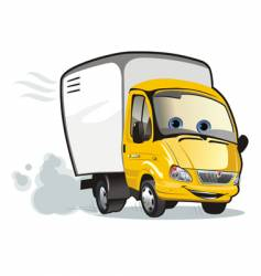 cartoon cargo truck vector image