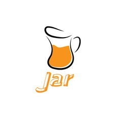 Jar design template vector