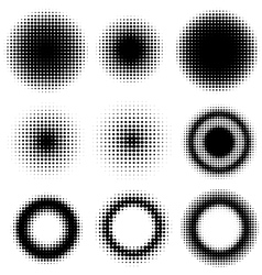 Set of abstract halftone vector