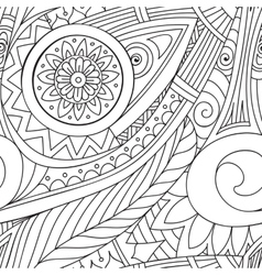 Drawing doddle seamless pattern vector
