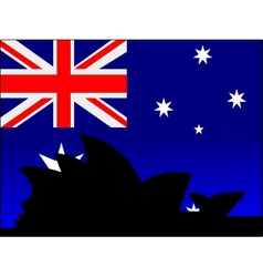 silhouette of sydney vector image