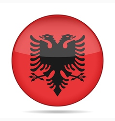Button with flag of albania vector