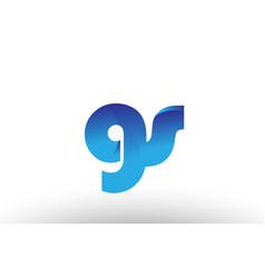 Blue gradient gs g s alphabet letter logo vector