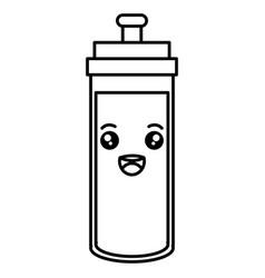bottle gym kawaii character vector image