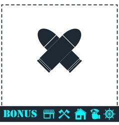 Bullet icon flat vector