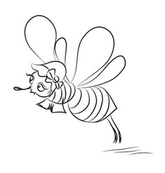 cartoon image of happy bee vector image