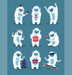 Cute yeti abominable snowman bigfoot sasquatch vector