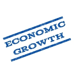 Economic growth watermark stamp vector