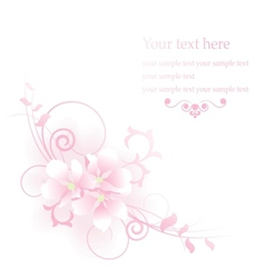 Elegant apple flowers composition vector image