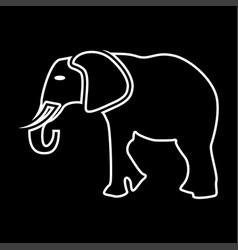 Elephant it is icon vector