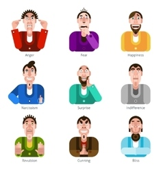 Emotion icons set vector