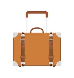 full color suitcase with handle vector image