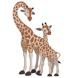 Giraffe with cub vector image vector image