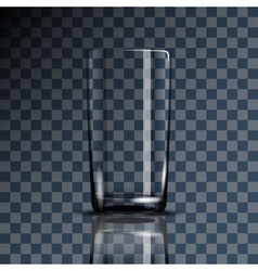 glass cup transparent vector image vector image