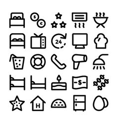 Hotel and restaurant icons 13 vector