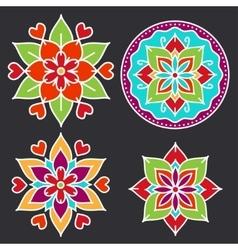 Kolam style elements vector