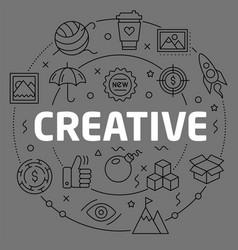 linear creative vector image