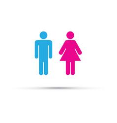 Men and women toilet sign vector