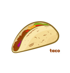 Mexican taco isolated on vector