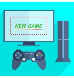 Modern game console vector