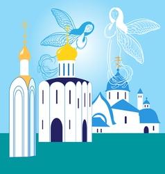 Orthodox churches vector image