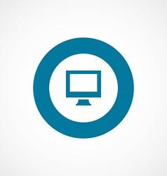 pc bold blue border circle icon vector image