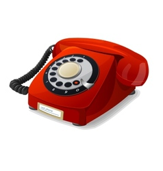 phone red vector image vector image