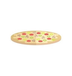 Pizza in flat style design vector