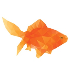 Polygonal gold fish vector