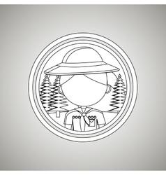 scout concept design vector image