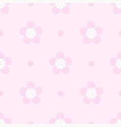 Seamless pink floral Pastel pattern for girl vector image