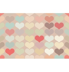 Seamless vintage heart pattern background vector