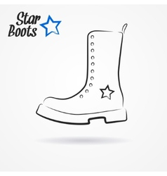 Star boots vector image vector image