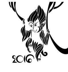 Symbol of 2016 year vector