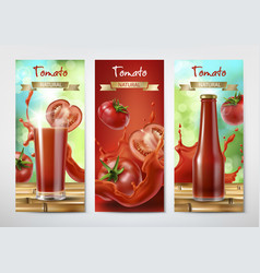 tomato juice and ketchup ad vector image vector image