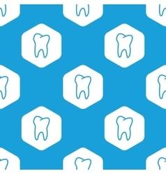 Tooth hexagon pattern vector