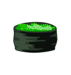 traditional japanese roll stuffed with green vector image vector image