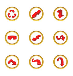 Various arrows icons set cartoon style vector