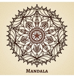 Yoga meditation mandala ornament vector image