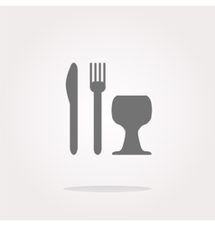 Eat sign icon cutlery symbol knife fork and vector