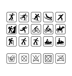 Icons for sport clothes design vector image