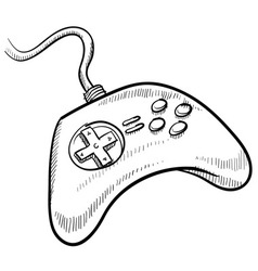 Doodle game controller vector