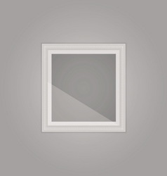 Created simple grey frame with mirror reflection vector