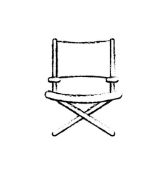 Directors chair isolated vector image