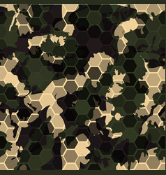 Digital gexagonal camo seamless pattern vector