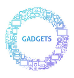 Gadget line icon circle concept vector