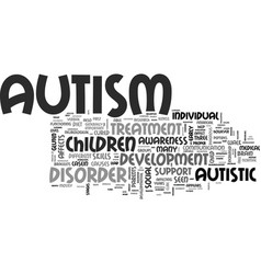 Autism is there a cure in sight text word cloud vector