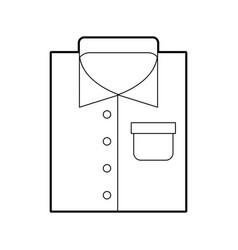 Laundry garments isolated icon vector