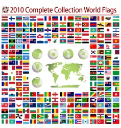 World flags complete collection vector